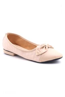 Giày búp bê nơ khóa Sarisiu XTH726 (Kem)