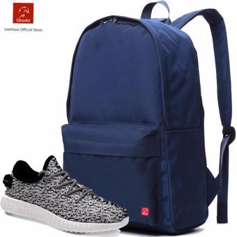 Combo Balo Cylinder Laptop BLL002BU + Giày Sneaker GS011WH (Trắng) - CB024