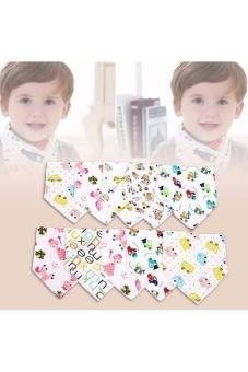 Bộ 10 khăn yếm tam giác 2 lớp