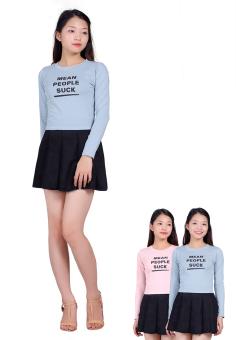 Bộ 3 áo cottong dài tay thời trang SALOME FASHION (Xanh dương)