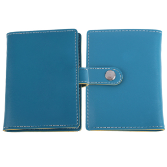 Blue PU Leather Business Case Wallet Credit Card Holder Purse for 20 Cards - intl