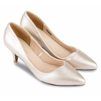 Giày cao gót da bóng Pierre Cardin B039-GOLD