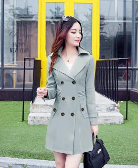 Áo khoác nữ kaki cao cấp Lyly TAT23K (Xám).