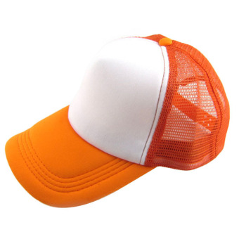 Casual Hat Solid Baseball Cap Trucker Mesh Blank Visor Hat Orange