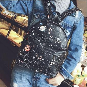Women Fashion Star Universe Printing School Bags Teenage Girls Small Backpack - intl