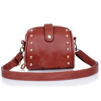Mini Bag Camera Bag Rivets Small Bag Brown