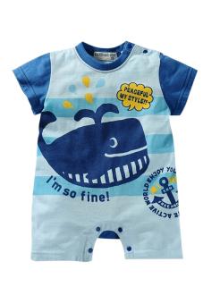 Bộ áo liền quần liền hình thú ngộ nghĩnh Family Shop TEH13 (Xanh)