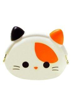Bluelans Kawaii Xmas Gift Cartoon Cat Silicone Jelly Coin Purse Mini Wallet (Intl)