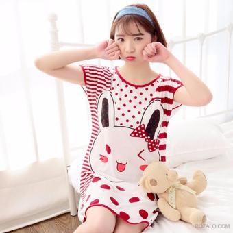 Váy ngủ hoạt hình ngộ nghĩnh ROZALO RWV62201TN-Thỏ Nâu