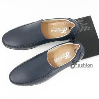 Giày Mọi Nam Da Thật Hàn Quốc GM221 (Xanh)