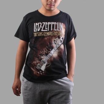 BolehDeals 3D Guitar Print Black T-shirt XXXL - intl