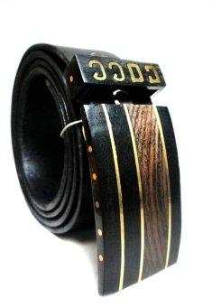 Thắt lưng da bò gỗ mun CoCo Design