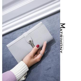Ví cầm tay nữ thời trang, kiểu dáng sang trọng H378(Ghi đá)