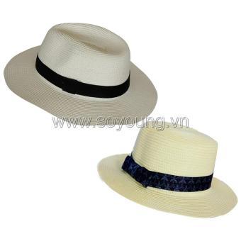 Bộ 2 Mũ Cói Đi Biển Nam Nữ SoYoung SYCB HAT 043 CR PS WM HAT 044 CR