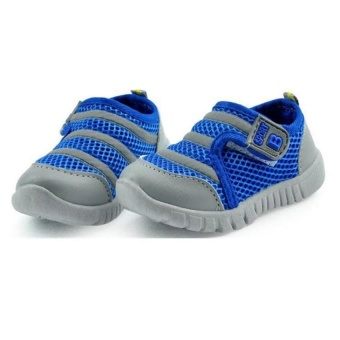 Babies Toddler Shoes Boy Girl Soft Sneakers Children Shoes Comfortantislid Breathable Sport Shoes(Blue) - intl