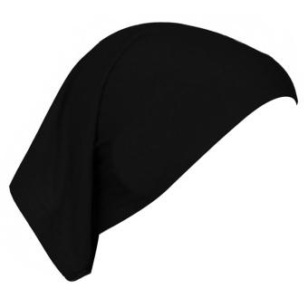 Women Muslim Mercerized Cotton Soft Adjustable Head Wrap Cover Inner Hijab Bonnet Cap Hat Black (Intl)