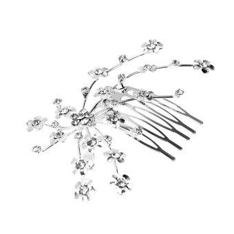 niceEshop Bridal Wedding Jewelry Crystal Rhinestone Bride Pearl Hair Comb Pin - intl