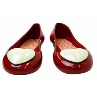 Giày Búp Bê Faux Pas Kids Opera Flat Heart (Đỏ)