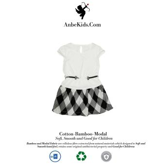 Baby White Checked Dress 3y-4y