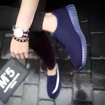 Giày sneaker nữ đế êm CTBB (xanh)