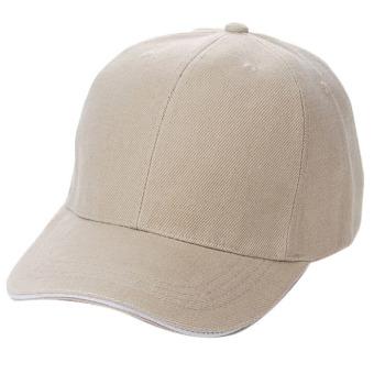 Unisex Plain Baseball Sport Cap Blank Curved Visor Hat Khaki