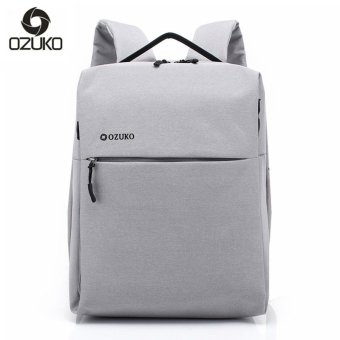 OZUKO Brand Minimalist Business Laptop Men Backpack Waterproof Oxford Travel Women Men College Backpacks School Bag (Grey) - intl