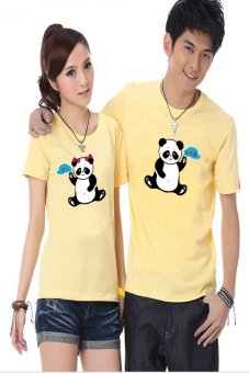 Áo thun cặp Kỳ Khang KK26 (Vàng panda)