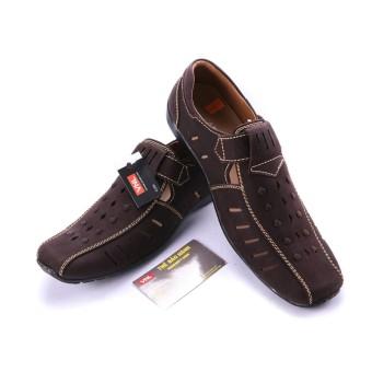 Giày rọ nam da thật chính hãng Da Giày Việt Nam VNLH2A04N (Nâu).