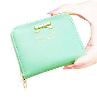 Lady Graceful PU Leather Wallet Green (Intl)