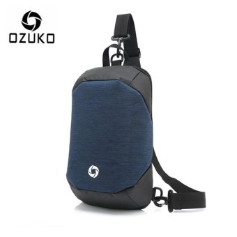 OZUKO Unisex Chest Pack Messenger Bag Creative Anti-theft Bag Oxford Shoulder Bag Casual Fashion Crossbody Bags (Blue) - intl