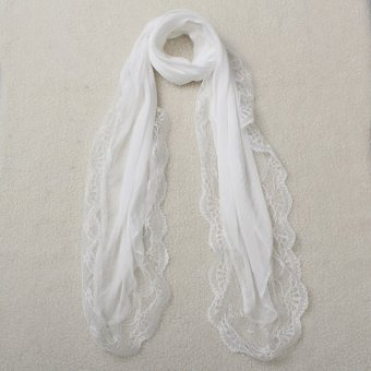 New Chiffon Lace Floral Sunscreen Soft Scarves Shawl Neck Wrap Scarf Winter Warm - Intl