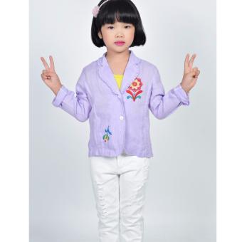 Áo khoác Linen bé gái Somy Kids màu tím