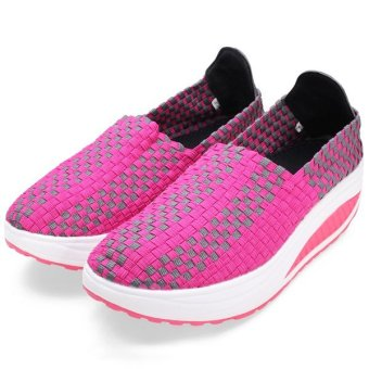 Women's Stretch Casual Breathable Knit Shook Shoes Sneakers - intl