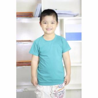 Áo thun bé trai trơn cao cấp LyLyFashion ( xanh ngọc )
