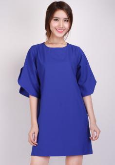 Đầm Suông Tay Cánh Tiên Thời trang Hoàng Khanh -HK 14 (Xanh)