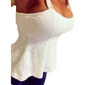 ZANZEA Women Lace Floral Bodycon Strap Tank Top Vest T-shirt Blouse Waistcoats - Intl