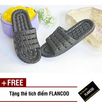 Dép chống trơn đi trong nhà Size 40-41 Flancoo 28381 (Đen) + Tặng kèm thẻ tích điểm Flancoo
