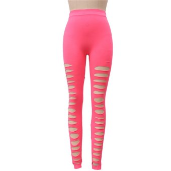 LALANG Tight Pants Pink - Intl