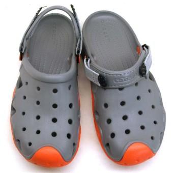 Giày lười nam Crocs Swiftwater Clog M Smo/Tng 202251-0V3 (Xám)