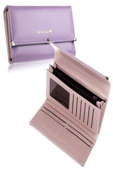HKS New Fashion Lady Women Purse Long Wallet Bags PU Handbags Card Holder Gift Light (Purple) - intl