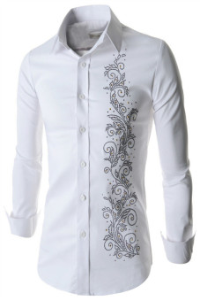 Reverieuomo CS46 Single-Breasted Shirt White - Intl