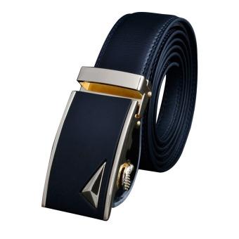 Mens Formal POP Waist Strap Automatic Buckle 125cm - intl