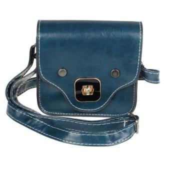 Cute Pig Nose Print Satchel Messenger Shoulder Bag Handbag Cross Body Purse Blue - Intl