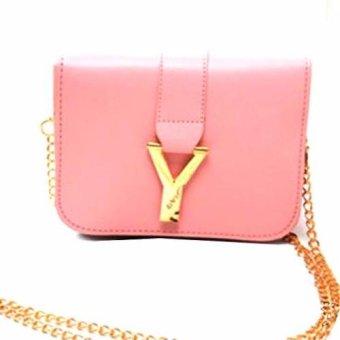 Túi xách nữ hình chữ Y (Hồng)