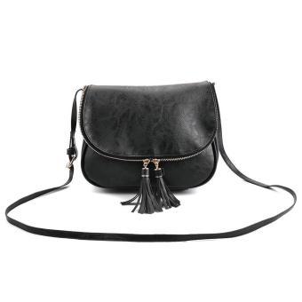 Women Leather Messenger Cross Body Bag Satchel Purse - intl