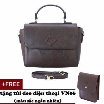 Túi đeo chéo nữ đa năng LATA HN35 (nâu)+ Tặng ví vn06