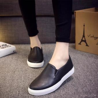 Giày lười slip on nữ Rozalo RWG2117B-Đen