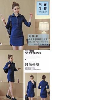 Mua Đầm jean suông phối túi - LV1372 giá tốt nhất