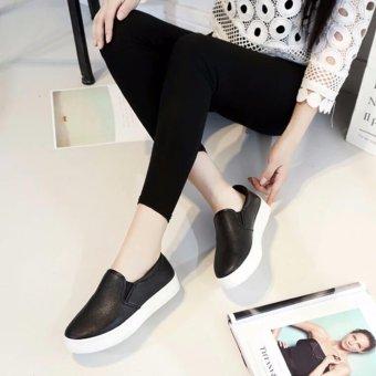Giày lười nữ da đẹp (đen)