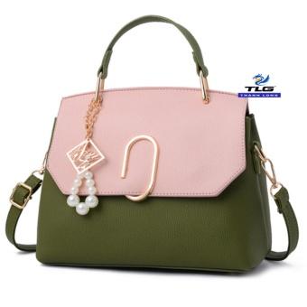 Túi đeo chéo thời trang Messenger phong cách Thành Long TL8154 4(xanh phối hồng)